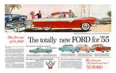 1954 Ford advertisement... wonderful color ad for many of their most popular cars..