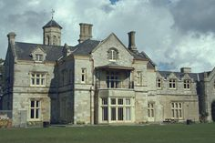 Bay House, formerly Ashburton House, by Decimus Burton in Gosport, Hampshire, England.  Gothic Revival.  Currently Bay House School.  Home of Anne Louise Bingham and Alexander Baring, Baron and Baroness Ashburton