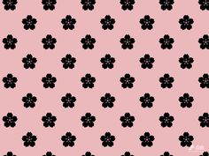 Floral pattern of cherry Japanese style Wallpaper|Free desktop wallpaper backgrounds illustration, photography and design.