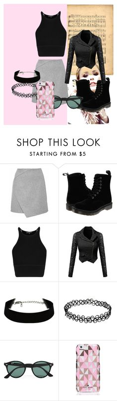 """I love this jacket"" by dzenita-219 on Polyvore featuring Dr. Martens, Ray-Ban, Kate Spade, women's clothing, women, female, woman, misses and juniors"