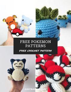 My Pokemon Inspired Patterns Pokemon Crochet Pattern, Crochet Geek, Free Crochet, Crochet Toys Patterns, Crochet Patterns Amigurumi, Crochet Crafts, Kawaii Crochet, Crochet Dolls, Beginner Crochet Projects