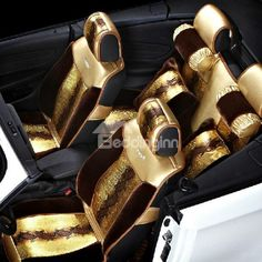 New Arrival Gorgeous Luxury Gold Color Fashion Seat Covers