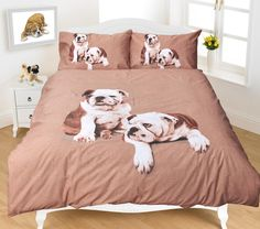 Animal Pug 3D Duvet Cover Bedding Set Single Double King Super King