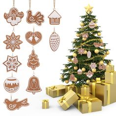 Diamond Magideal 2pcs Set Christmas Snowflake Wooden Sleds Boots Christmas Tree Hanging Decor