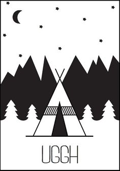 Uggh - #Teepee - #Tipi - #Indian - Buy it at www.vanmariel.nl - Poster € 3,95 - Card € 1,25