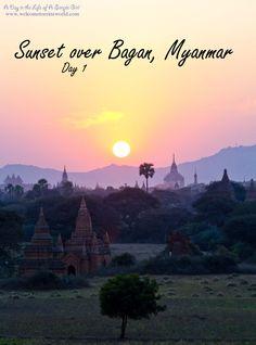 Bagan Sunset Beautiful sunset in Bagan, Myanmar! www.welcometoerinsworld.com