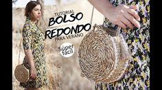 BOLSO REDONDO ESTILO CAPAZO PARA VERANO DE PAJA - MIMBRE - RAFIA SUPER FACIL SIN COSER RECICLADO - YouTube