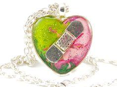CHD Necklace Congenital Heart Defect Broken Heart by jewel4u #CHD #brokenheart #heartdefect