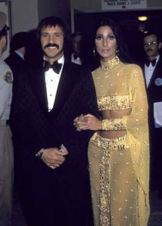 CHER, 1973 In a sari-inspired two-piece outfit.