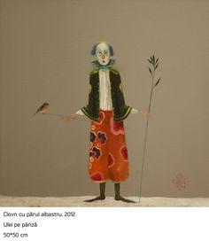 #23 Clovn cu Parul Albastru  Stefan Caltia Blue Bird, Modern Art, My Arts, Animals, Fictional Characters, Layout, Magic, Paintings, Artists