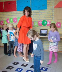 Princess Marie visits an elementary school 8/16/2013