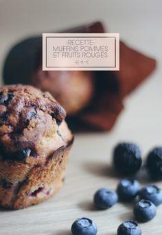 Recette : Des muffins pommes et fruits rouges