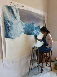 As if we didn't already wanna be her BFF, she's donating part of the sales from her Greenland artwork to 350.org. COOL. Check out more of he...