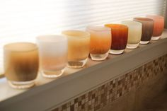 glassybaby | haze • lace • nishino • duck egg • chatham • heart