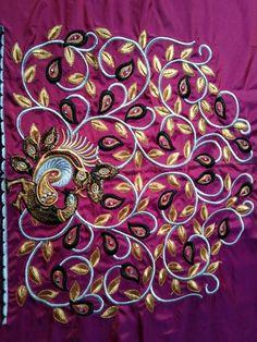 Pattu Saree Blouse Designs, Fancy Blouse Designs, Bridal Blouse Designs, Hand Embroidery Dress, Embroidery On Clothes, Embroidery Designs Free Download, Machine Embroidery Designs, Hand Work Blouse Design, Mirror Work Blouse