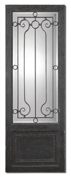 Aged Black and Rustic Iron Beveled Mirror Wall Decor  Click here to purchase: http://www.houzz.com/photos/25202390/lid=12988482/Aged-Black-and-Rustic-Iron-Beveled-Mirror-Wall-Decor-traditional-wall-decor