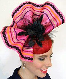 Fashion hat Iris, designed by Melbourne milliner Louise Macdonald