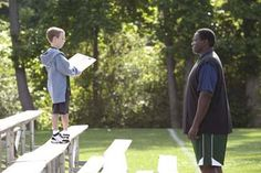 Jae Head (left) as S.J. Tuohy in - The Blind Side