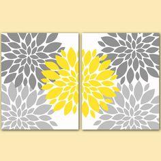 Yellow Grey White Vintage Ornate Open Frames Set Of 7