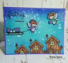 Fairy Magical Christmas Frosty Fairy Friends My Favorite Christmas Stamp Sets Card Making Inspiration, Making Ideas, Rainbow Card, Lawn Fawn Stamps, Cute Cards, Diy Cards, Cricut Cards, Magical Christmas, Cards For Friends