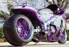 Cars and Bikes's photo: Suzuki Hayabusa Purple Motorcycle, Motorcycle Types, Trike Motorcycle, Custom Street Bikes, Custom Sport Bikes, Suzuki Hayabusa, Moto Violet, Vespa Scooter, Mustang