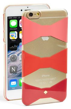 kate spade new york 'bow tiles' iPhone 6 Plus & 6s Plus hard shell case