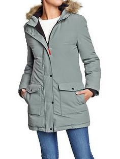 Women's Down-Fill Nylon Coats | Old Navy  LOVE this color!