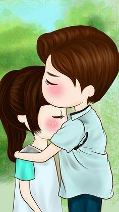 When I'm sad 😞 Love Cartoon Couple, Chibi Couple, Cartoon Girl Images, Cute Cartoon Pictures, Anime Love Couple, Cute Anime Couples, Cute Love Stories, Cute Love Gif, Cute Love Pictures
