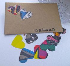 500 Heart Wedding Confetti, Table Confetti decoration Batman. via Etsy.