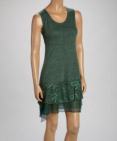 Another great find on #zulily! Teal Linen-Blend Sleeveless Dress #zulilyfinds