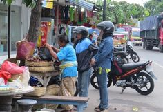 Fruit Seller at Padang Bai Bali