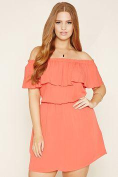 Plus Size Crinkled Gauze Dress | Forever 21 PLUS - 2000177618