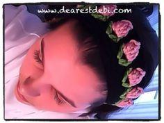 Crochet Flower Bud Headband - Free crochet pattern by DearestDebi