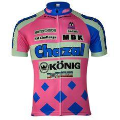 Chazal/MBK/Konig 1994 Team Retro Cycling Jersey | Freestylecycling.com Cycling Wear, Cycling Jerseys, Cycling Outfit, Men's Cycling, Cycling Tips, Cycling Clothing, Mountain Bike Accessories, Cool Bike Accessories, Bicycle Maintenance