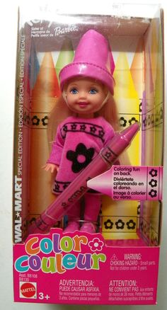 Kelly Pink Color Couleour Doll Wal-Mart SE #B8130 New NRFB 2003 Mattel, Inc. 3+ #MattelInc #Dolls
