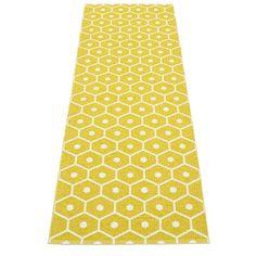 Pappelina Honey Mustard/Vanilla Runner Rug