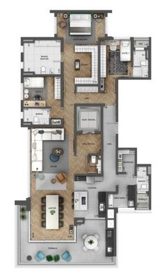 Trendy house plans mansion layout ideas - My CMS House Plans Mansion, Dream House Plans, House Floor Plans, Layouts Casa, House Layouts, Small Space Interior Design, Interior Design Living Room, Home Design Plans, Plan Design