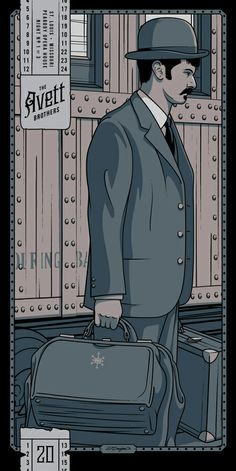The Avett Brothers - St. Louis, MO Night 1 Gig Poster - by Charles Crisler / 27designco.com
