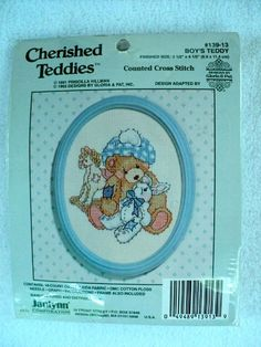 Vintage  Boy's Teddy Counted Cross Stitch by DocksideDesignsEtc, $5.00