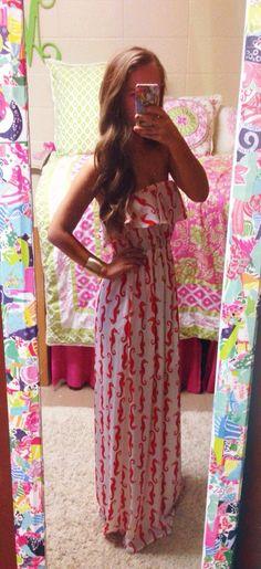 Seahorse maxi dress