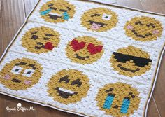 Are you or your kids Emoji-obssessed? It's hard not to love those cute little faces and icons that give your texts and social media posts a little pizzazz! I created 9 Emoji Crochet C2C (corner-to-corner) squares and stitched them together to make a fun Emoji Graphgan! Afairly simple project that you can easily add to. …