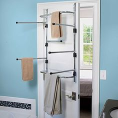 Amazon.com: Chrome Over The Door Dryer Rack - Improvements: Home & Kitchen
