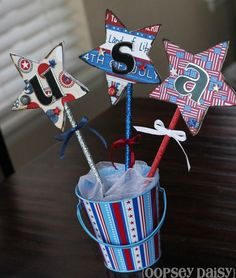 Lovely patriotic craft from an Elmer's Glue crafting party