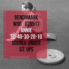 #crossfit #voiron #crossfitvoiron #Wod #training #annie #dusportmaispasque #originalathlete #become