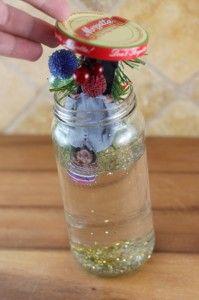 placing lid on jar