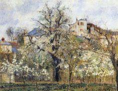 amare-habeo: Camille Pissarro (French, 1831-1903) Spring in... | ALONGTIMEALONE | Bloglovin'