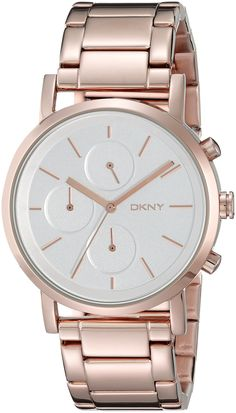 DKNY Women's NY2275 SOHO Rose Gold-Tone Stainless Steel Watch