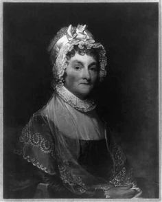 "John Adams first mentioned Abigail Smith, his future wife, with admiration in his diary when she was only fourteen, as ""a wit."" As Mrs. President, her wit and assertiveness were evident; she defended John against his critics and served as an important political advisor to her husband. (Abigail Smith Adams. Image courtesy of the Library of Congress Prints and Photographs Division.) #FirstLadies #AbigailAdams"