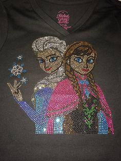 Frozen rhinestone shirt