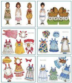 Free Gingham printable paper dolls by benita.williams.98